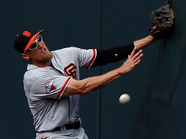 Unlike David Wright, Hunter Pence thinks Dom Brown belongs in the Derby. (AP Photo/David Zalubowski)