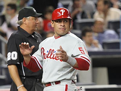 Catcher Carlos Ruiz will start tonight after being on the disabled list since June 19. (AP file photo / Seth Wenig)
