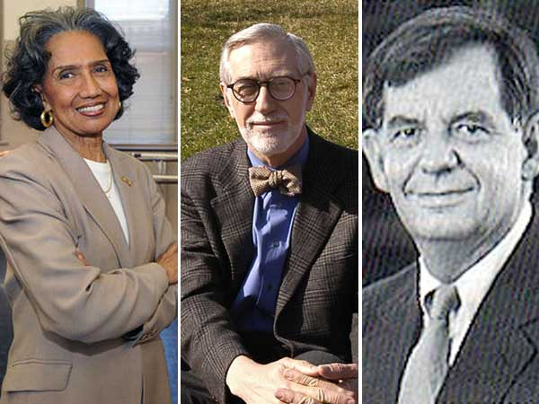 President Obama will honor three people with ties to the Philadelphia area today with national medals for the arts or humanities. The recipients are, from left to right, Joan Myers Brown, Laurie Olin and William Bowen.