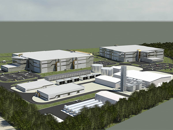 An artist´s rendering of the proposed data center and power plan on the University of Delaware´s campus. (Illustration from datacenters.com)