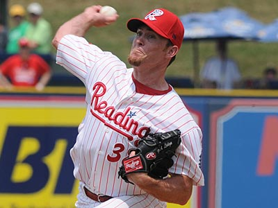 Brad Lidge retired the side in order in his inning at Lakewood on Wednesday. (Ryan McFadden/AP Photo, Reading Eagle)