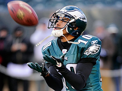 Eagles receiver DeSean Jackson continues to draw criticism for using a gay slur on a radio program. (Miles Kennedy/AP)