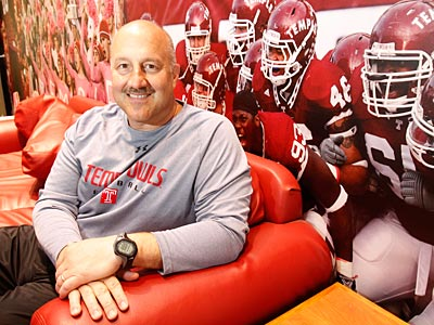 Temple is third among FBS schools in commitments for the Class of 2012 thanks to new head coach Steve Addazio. (Charles Fox/Staff Photographer)