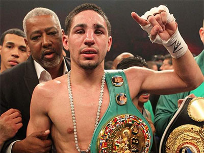 Danny Garcia is the only Philly fighter with a championship belt right now. (Photo courtesy of Golden Boy Productions)