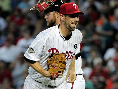 Cliff Lee retired five batters before allowing three consecutive hits in the fourth inning of the All-Star Game. (Mark J. Terrill/AP)