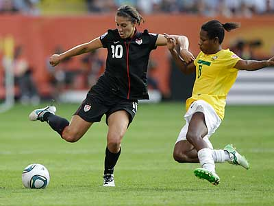 Delran, N.J., native Carli Lloyd made the U.S. women´s Olympic qualifying team. (Marcio Jose Sanchez/AP file photo)