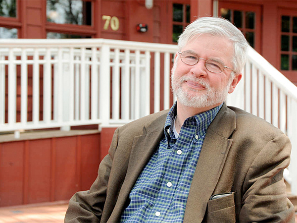 "Christopher Durang lives close to the Bucks County Playhouse, where ""Vanya and Sonia and Masha and Spike"" is being staged. (Mandee Kuenzle)"