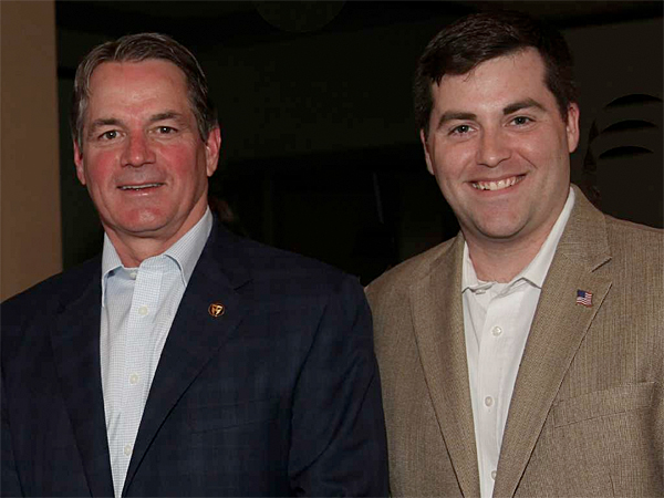 Coauthors Tom Manion (left), father of Travis Manion and retired Marine colonel, and syndicated columnist Tom Sileo.