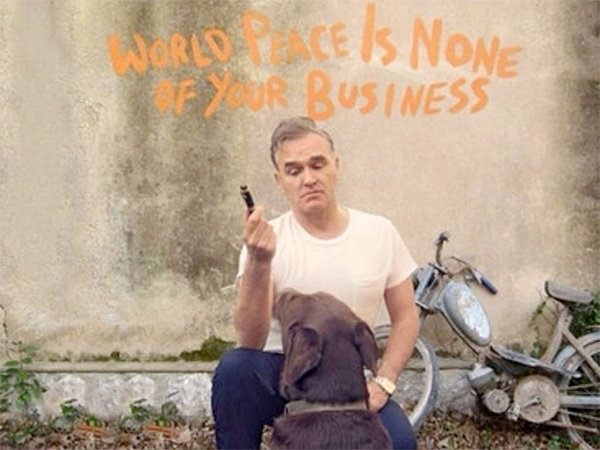 "Morrissey: ""World Peace Is None Of Your Business"" (From the album cover)"