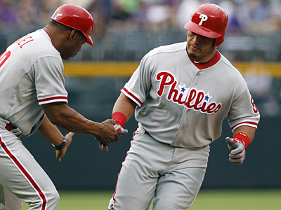 Phillies catcher Carlos Ruiz is tied for most games played by a catcher this season. (David Zalubowski/AP)