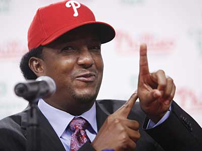 New Phillie Pedro Martinez met with the media this afternoon at Citizens Bank Park. (AP / Matt Rourke)