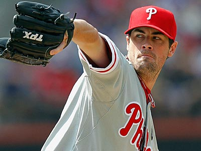 Cole Hamels allowed seven runs on eight hits in 4 1/3 innings against the Mets on Saturday. (Paul J. Bereswill/AP)