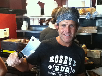 Chad Rosenthal in 2011, during a rib rush at his Rosey´s BBQ in Ambler. It has since closed.