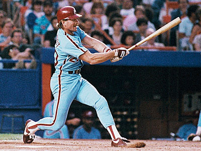 Between his first and last full major league seasons, Mike Schmidt hit 541 home runs, 134 more than any other hitter during that time. (AP file photo)