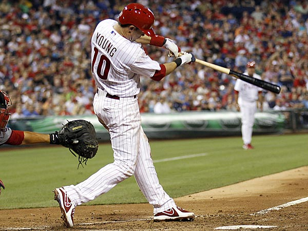 Phillies third baseman Michael Young. (Yong Kim/Staff Photographer)