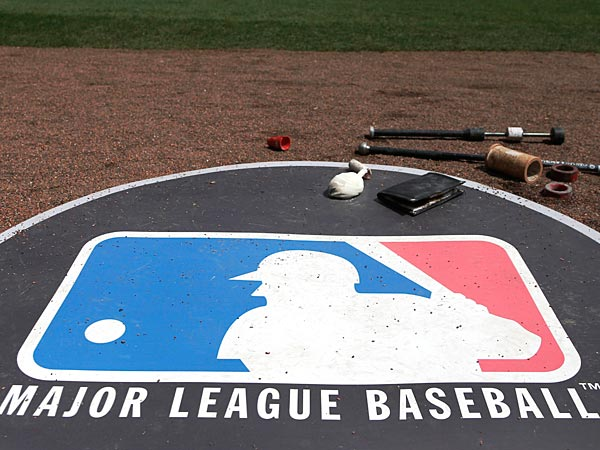 The Major League Baseball logo. (AP Photo/Charles Rex Arbogast)