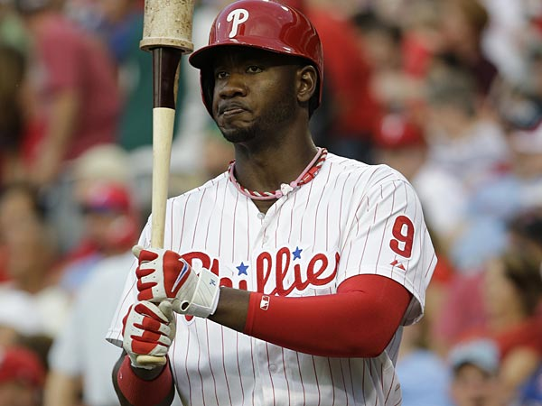 Phillies left fielder Domonic Brown. (Matt Slocum/AP)