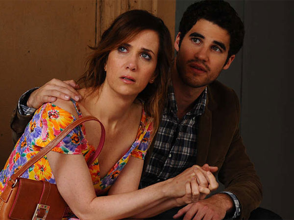 "Kristen Wiig and Darren Criss in ""Girl Most Likely"" Wiig stars as Imogene, a young woman who, after some early success, leaves home for the big city but falls short of expectations and returns home."
