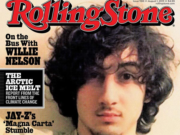 The cover of Rolling Stone magazine for the Aug. 1 issue shows Boston Marathon bombing suspect Dzhokhar Tsarnaev.