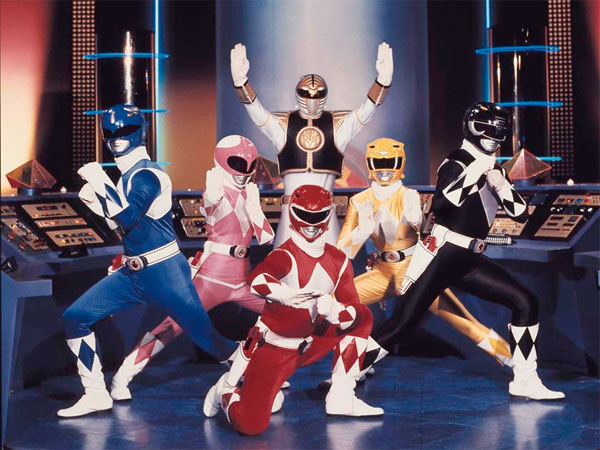 """In this publicity photo provided by Saban Brands, a scene from the """"Mighty Morphin Power Rangers"""" TV show is shown. """"Power Rangers"""" will commemorate its 20th anniversary with a panel, """"Power Rangers: 20 Years and Beyond"""" at Comic Con on July 12, 2012, in San Diego. (AP Photo/Saban Brands)"""