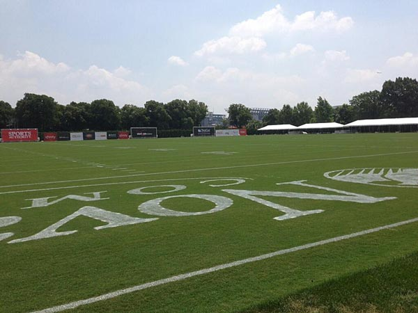 Training camp at NovaCare Complex features four parallel fields. (Photo by Zach Berman/Staff)