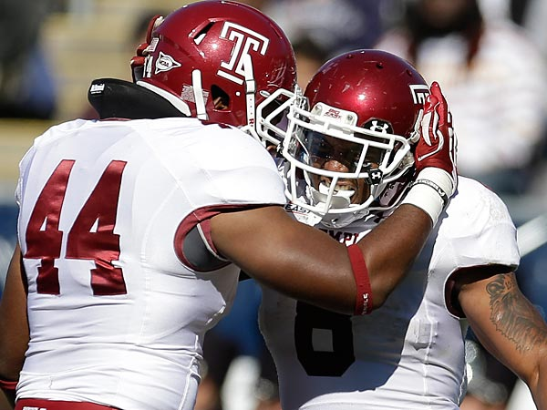 Temple linebacker Wyatt Benson.(AP Photo/Michael Dwyer)