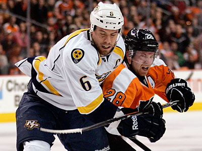Will the Flyers´ 14-year, $110 million offer sheet be enough to land Shea Weber? (Tom Mihalek/AP Photo)