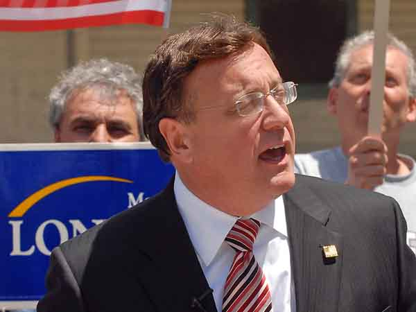 Republican Steve Lonegan (pictured here) faces Democrat Mayor Cory Booker of Newark in the Oct. 16 election.