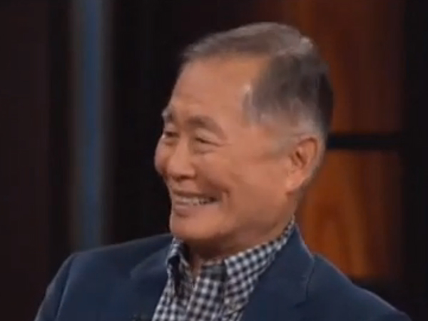 """George Takei speaks to Bill Maher on HBO´s """"Real Time with Bill Maher."""""""
