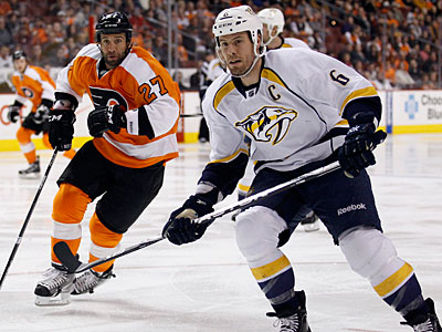Paul Holmgren and Nashville´s David Poile have talked just once since Shea Weber signed the Flyers´ offer sheet. (Yong Kim/Staff file photo)