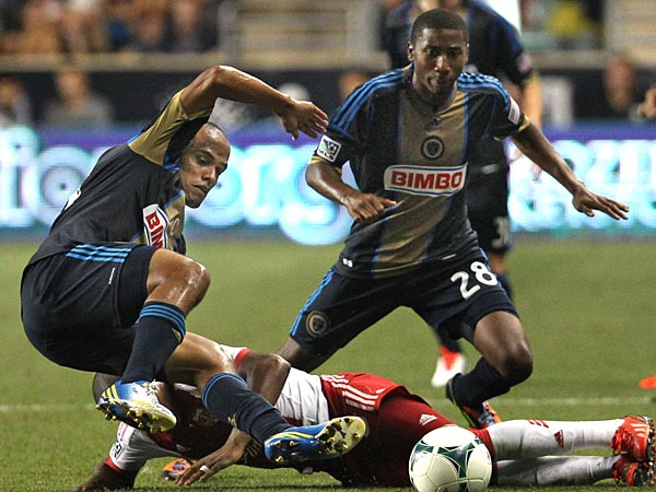 Fabinho (left) was one of the Union´s summer signings. (Ron Cortes/Staff Photographer)