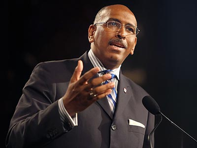 """I don´t do policy,"" RNC chairman Michael Steele said at a recent press conference about health care reform. (Seth Wenig/AP file photo)"