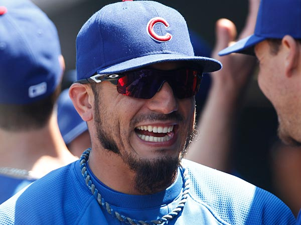 Former Chicago Cubs pitcher Matt Garza was traded to the Texas Rangers Monday. (AP Photo/David Zalubowski)