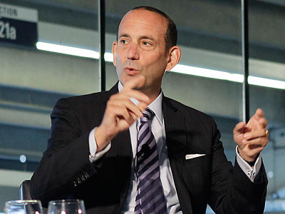 Don Garber still contends that even after 17 years of existence, MLS has a lot more work to accomplish. (Kathy Willens/AP file photo)