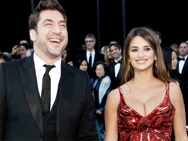 Javier Bardem, left, and his wife, Penelope Cruz. (AP Photo)
