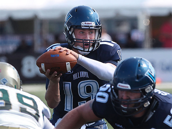 Villanova quarterback John Robertson was named the CAA preseason Offensive Player of the Year. (Michael Bryant/Staff file photo)