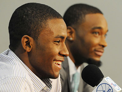 Maurice Harkless and Arentt Moultrie signed with the Sixers on Tuesday. (Clem Murray/Staff Photographer)