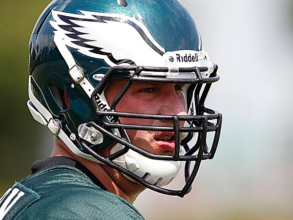 Eagles offensive lineman Lane Johnson. (David Maialetti/Staff Photographer)