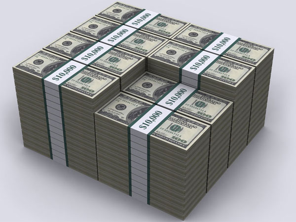 This photo illustration shows what $1 million looks like. (Source: demonocracy.info)