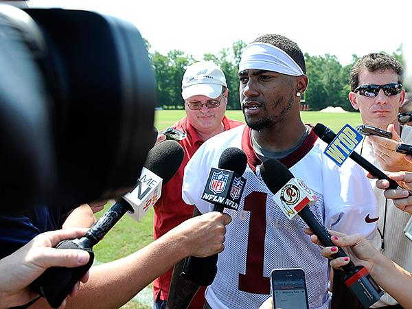 Redskins WR DeSean Jackson. (AP Photo/Nick Wass)