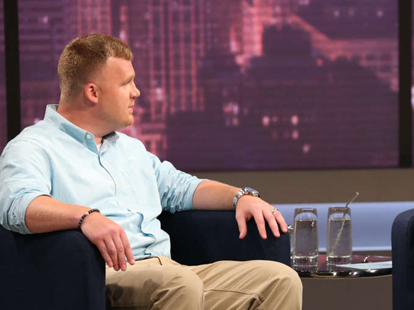Matthew Sandusky , the adopted son of sexual-abuse convict and former Penn State coach Jerry Sandusky, during an interview with Oprah Winfrey (not pictured) aired last week. GEORGE BURNS / Harpo
