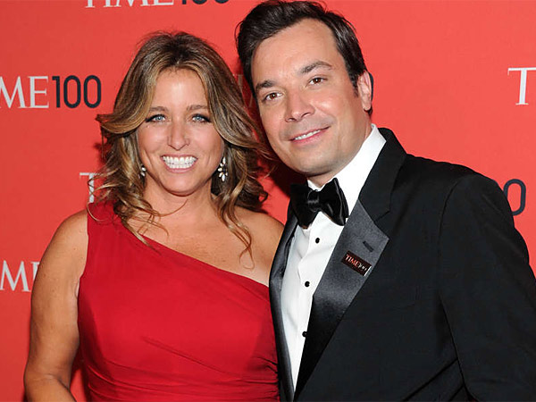 ASSOCIATED PRESS It´s a good thing Jimmy Fallon (here, with wife Nancy Juvonen Fallon) is a night person, now that he´s a new dad.