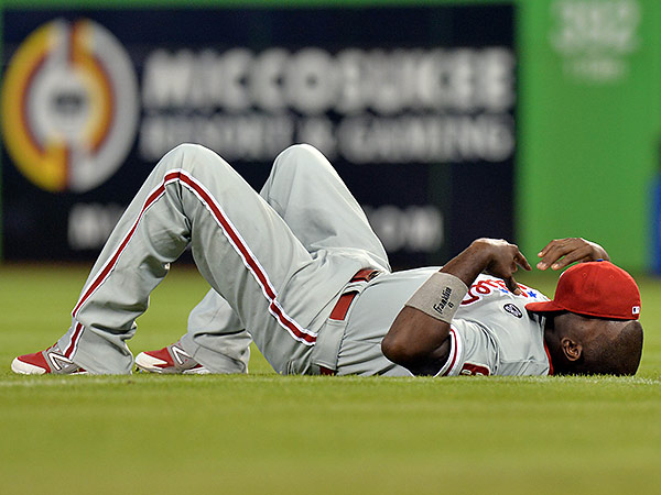 Ryan Howard: Eater of Worlds. (Steve Mitchell/USA Today Sports file photo)