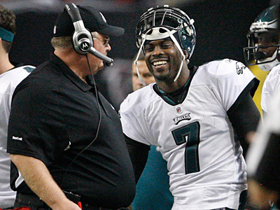 Michael Vick has been cleared by the NFL and will arrive at training camp today.  ( Ron Cortes / Staff Photographer )