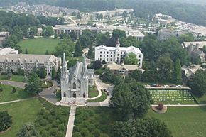 The campus of Villanova University, which reported zero  sexual offenses last year.