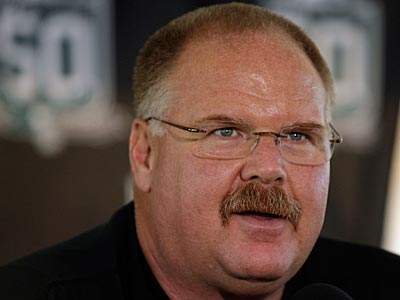 Coach Andy Reid and the Eagles held their first training camp practice at Lehigh today. (Yong Kim / Staff Photographer)
