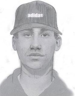 Philadelphia Police sketch of the indecent assault suspect.