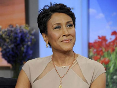 """Good Morning America"" host Robin Roberts. Roberts took a leave of absence after being diagnosed with cancer in 2012."