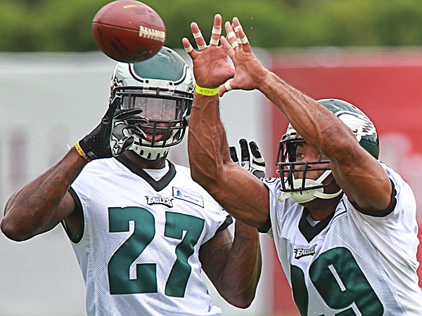 Eagles safeties Malcolm Jenkins and Nate Allen. (Michael Bryant/Staff Photographer)