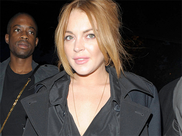 Lindsay Lohan attends the No1 Embankment Party. (WENN.com)